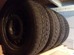 Winter tires and rims from Nissan Sentra 09