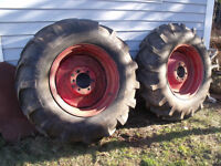 Two 14.9 / 26 tires