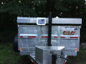 2017 HD N&N GALVANIZED 16 DUMP TRAILER