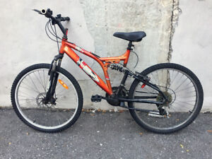 Full suspended bike with front disc brake 26 wheels 21 speed