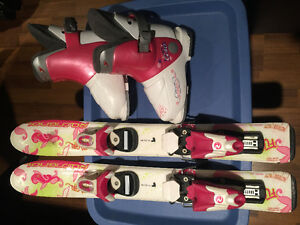 Toddler Girl Skis and Boots