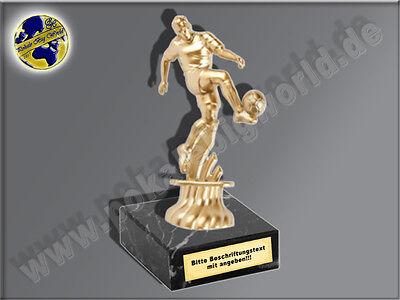 Fußballspieler, Mini-Pokal-Fussball, mit Beschriftung