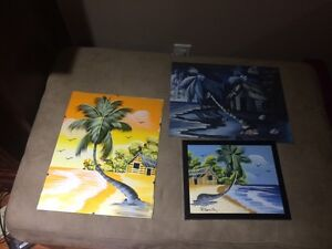 Caribbean canvas paintings Cambridge Kitchener Area image 1