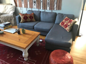 Modern Sectional, Reversible Couch/ Sofa
