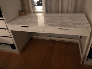 IKEA Alex Desk (I put a marble sticker on the top)