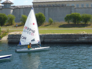 Laser Radial Sailboat with Dolly