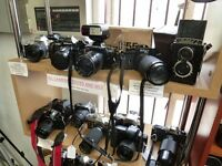 Vintage Cameras, SLRs, Folding Cameras, Collectable Cameras & Accessories, Bags & Tripods