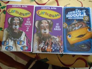 20 CASSETTES / film VHS POUR ENFANT/ certains Disney