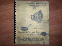 Twin Disc Model FO 10,000 11,500 3 Stage Torque Converter Manual