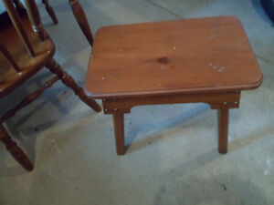 Small Pine  Stool Type Table