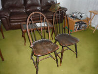 2 Chaises Antiques 2 Chairs 1800-1900's