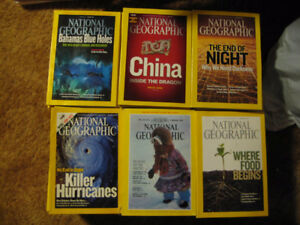 Lot of 202 National Geographic Magazines VGC - SOLD,THANKS