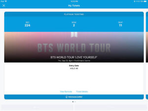 BTS Thursday Sept 20! 2 Tickets