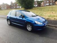 Peugeot 307 1.6 16v ( a/c ) low mileage not golf Astra corsa 206