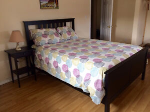 IKEA double bed frame + mattress and box spring < 1 year old