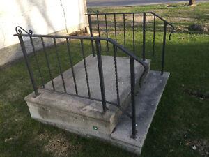Barkman step and railing