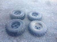 3 OEM rims from 2009 yamaha grizzly 550