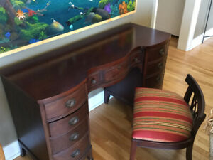 Antique Mahogany Desk & Chair (Geddes)