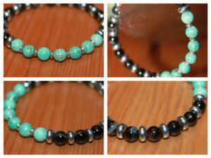 Turquoise and Agate Bracelet