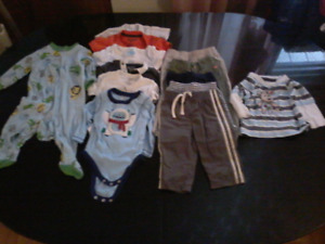Boys baby cloths 6-12 months in good condition