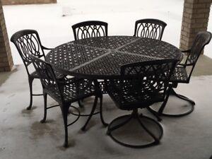 Patio Table - 9 piece set