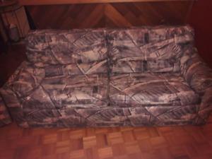 Ensemble fauteuil / divan-lit