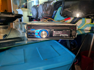 Car stereo deck with 2- 6x9 and 1- 10 inch sub