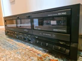 Technics twin cassette deck. Auto reverse. Rs-tr265