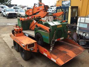 Crane ,Thierman utility all terrain mini crane C/W custom traile London Ontario image 3