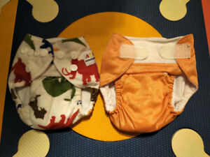 2x Alva Newborn cloth pocket diapers plus inserts (5-12lbs)