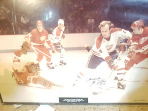 Guy Lafleur Autograph Picture Photo taken by Denis Brodur