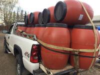 LOOK >> Pastic Screw On Lid Barrels, Food Grade, Only $40 Each.