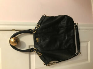 Authentic black leather coach purse/bag