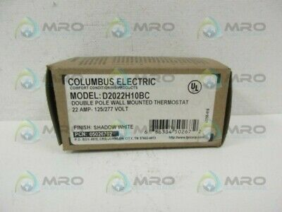 Columbus Electric D2022h10bc Wall Mounted Thermostat New In Box