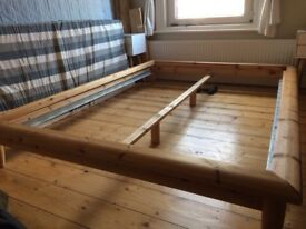 Japanese style double bed frame & slats