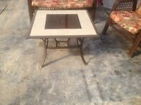 Fire pit / outdoor ceramic tile table