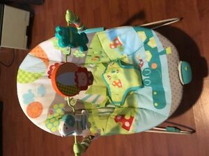 Bright Stars Safari Animals Infant Rock/Bounce/Sleeper - $15