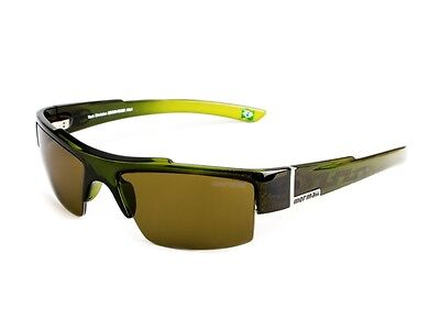New Mormaii Atol Women UV400 Eyewear Sunglasses Brown Lenses Frame Color Green