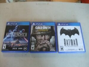 THREE  PS4 VIDEO GAMES