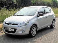 2011 HYUNDAI I20 1.2 CLASSIC 5 DOOR HATCHBACK, Silver, Manual, Petrol