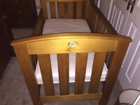Boori country collection cot bed and matching boori 4 drawer chest