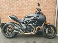 2017 DUCATI DIAVEL STEALTH ONLY 2700 MILES FULL TERMIGNONI SYSTEM 1 OWNER