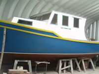 New Wooden Boat Then Exterior Fiber Glassed MIninum of  7 layers