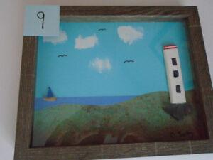 "FRAMED ART HANDMADE ORIGINAL 8""X 10"""