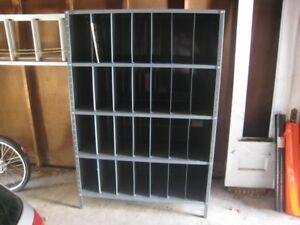 Vintage Industrial Metal Shelf