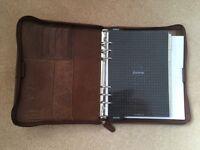 Filofax Lockwood A5 in tan leather