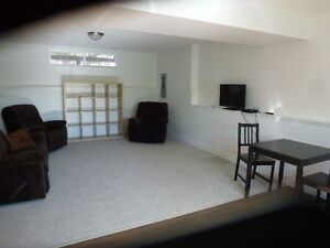 Large bright furnished 1 bedroom suite in East Hill home
