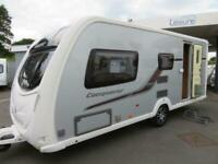 2011 SWIFT CONQUEROR 530 4 BERTH CARAVAN WITH SIDE DINETTE AND END WASHROOM.....