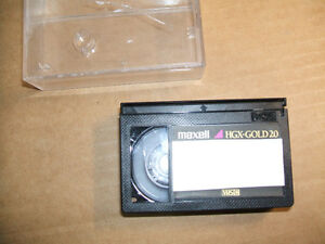 Maxwell HGX-Gold20 (VHSC) video cassette for filming