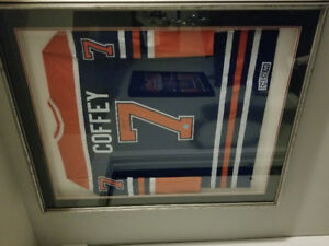 Coffey jersey signed and framed with COA